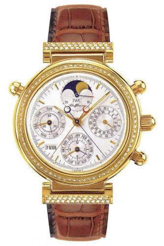 IWC IW8154-02 : Da Vinci Perpetual Rattrapante Yellow Gold / Diamond / Silver / Italian