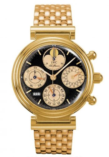 IWC IW9252-12 : Da Vinci Perpetual Red Gold / Black / French / Bracelet