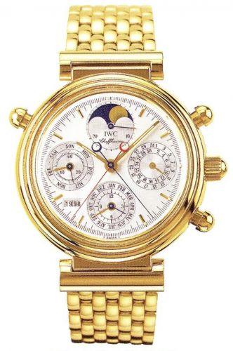 IWC IW9254-03 : Da Vinci Perpetual Rattrapante Yellow Gold / Silver / English / Bracelet