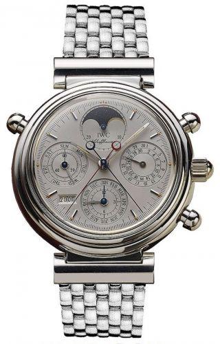 IWC IW9254-06 : Da Vinci Perpetual Rattrapante Platinum / Silver / Italian / Bracelet