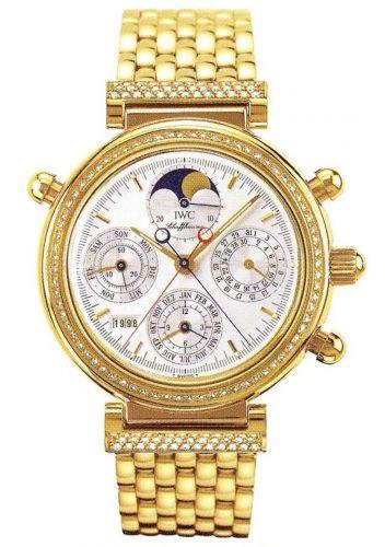 IWC IW9255-01 : Da Vinci Perpetual Rattrapante Yellow Gold / Diamond / Silver / German / Bracelet