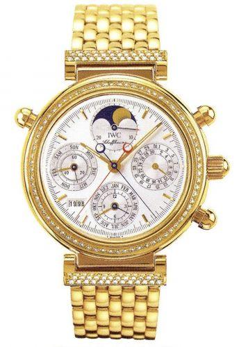 IWC IW9255-04 : Da Vinci Perpetual Rattrapante Yellow Gold / Diamond / Silver / French / Bracelet