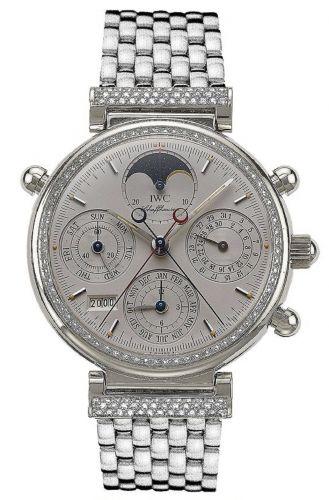 IWC IW9255-11 : Da Vinci Perpetual Rattrapante Platinum / Diamond / Silver / English / Bracelet