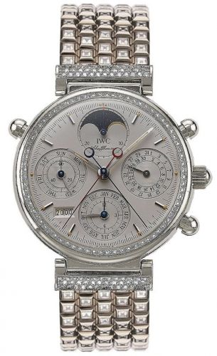 IWC IW9257-03 : Da Vinci Perpetual Rattrapante Platinum / Diamond / Silver / English / Bracelet