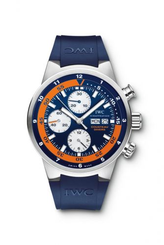 IWC IW3781-01 : Aquatimer Chronograph Stainless Steel / Blue / Rubber / Cousteau Divers 2007