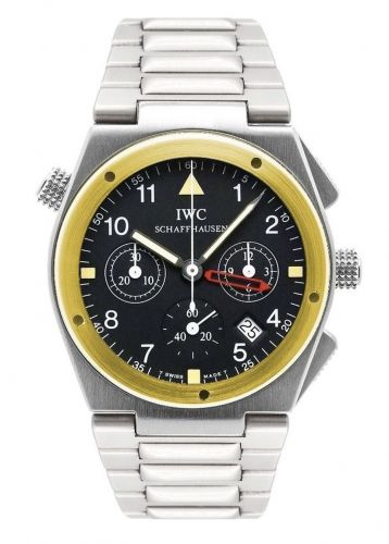 IWC IW3805-02 : Ingenieur Mecaquartz Chronograph Alarm Stainless Steel / Yellow Gold / Black / Bracelet