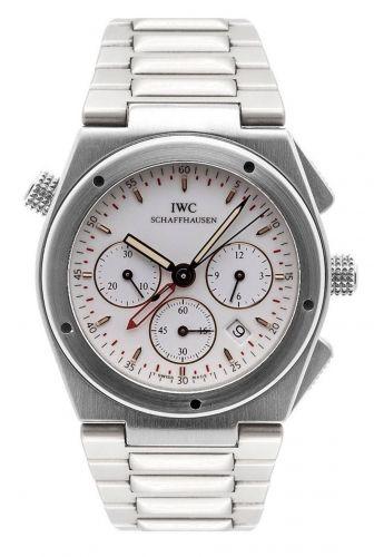 IW3805-03 : IWC Ingenieur Mecaquartz Chronograph Alarm Stainless Steel / White / Bracelet
