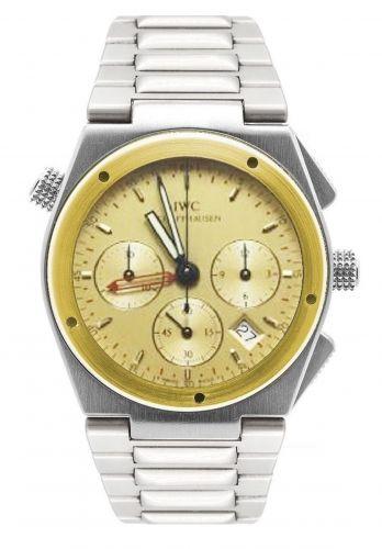 IWC IW3805-05 : Ingenieur Mecaquartz Chronograph Alarm Stainless Steel / Yellow Gold / Champagne / Bracelet