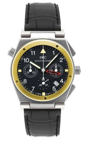 IWC IW3815-02 : Ingenieur Mecaquartz Chronograph Alarm Stainless Steel / Yellow Gold / Black / Strap