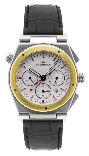 IWC IW3815-04 : Ingenieur Mecaquartz Chronograph Alarm Stainless Steel / Yellow Gold / White / Strap
