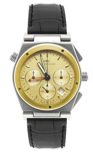 IWC IW3815-05 : Ingenieur Mecaquartz Chronograph Alarm Stainless Steel / Yellow Gold / Champagne / Strap