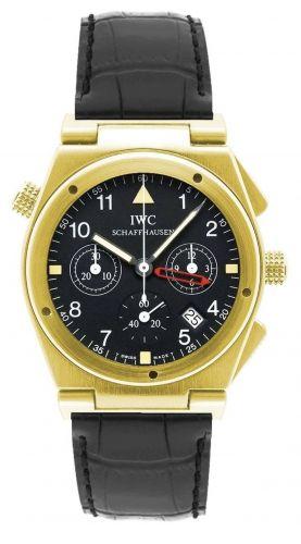 IWC IW3815-06 : Ingenieur Mecaquartz Chronograph Alarm Yellow Gold / Black / Strap