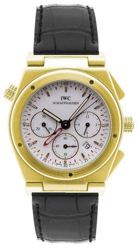 IWC IW3815-07 : Ingenieur Mecaquartz Chronograph Alarm Yellow Gold / White / Strap