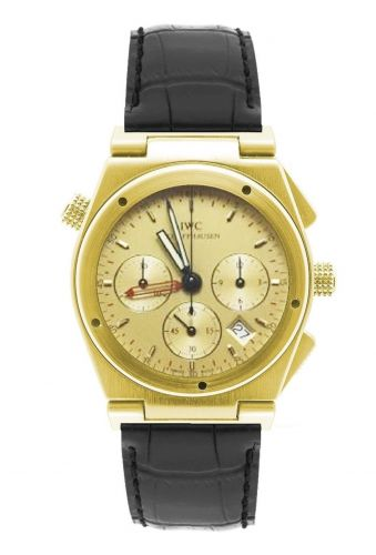 IW3815-08 : IWC Ingenieur Mecaquartz Chronograph Alarm Yellow Gold / Champagne / Strap