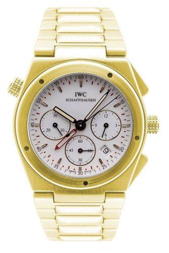 IW9515-02 : IWC Ingenieur Mecaquartz Chronograph Alarm Yellow Gold / White / Bracelet
