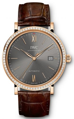 IWC IW3565-16 : Portofino Automatic Red Gold / Ardoise / Diamond