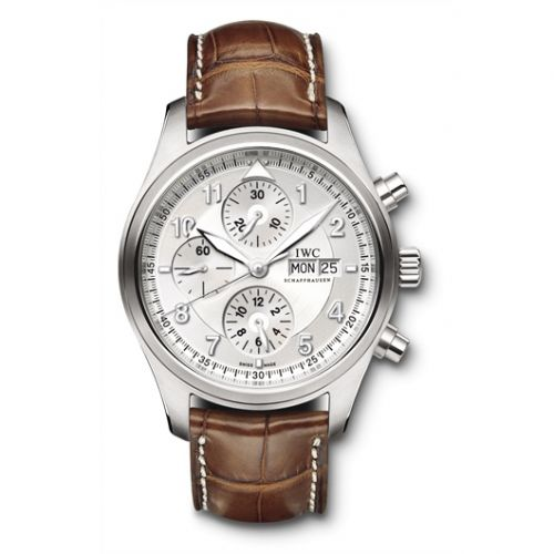 IWC IW3717-02 : Pilot's Watch Spitfire Chronograph Stainless Steel / Silver / Strap