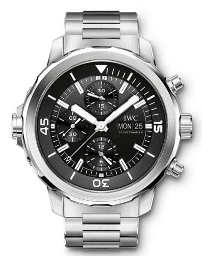 IWC IW3768-04 : Aquatimer Chronograph Stainless Steel / Black / Bracelet