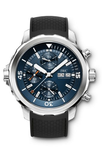 IWC IW3768-05 : Aquatimer Chronograph Stainless Steel / Blue / Rubber / Edition Expedition Jacques-Yves Cousteau 2014