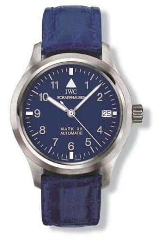 IWC IW3241-07 : Pilot's Watch Mark XII Platinum / Blue / Strap