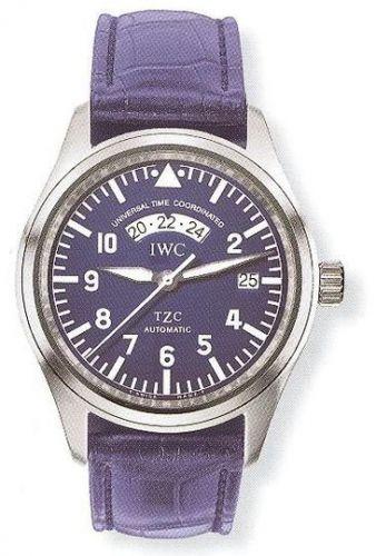 IWC IW3251-03 : Pilot's Watch UTC Platinum / Blue / Strap