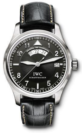 IWC IW3251-05 : Pilot's Watch Spitfire UTC Stainless Steel / Black / Strap
