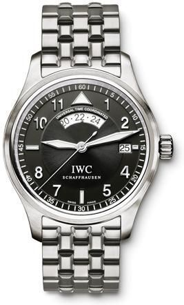 IWC IW3251-06 : Pilot's Watch Spitfire UTC Stainless Steel / Black / Bracelet