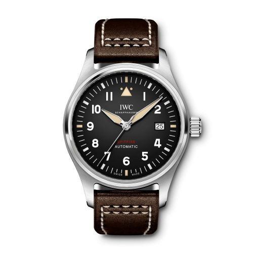 IWC IW3268-03 : Pilot's Watch Automatic Spitfire Stainless Steel / Black / Leather