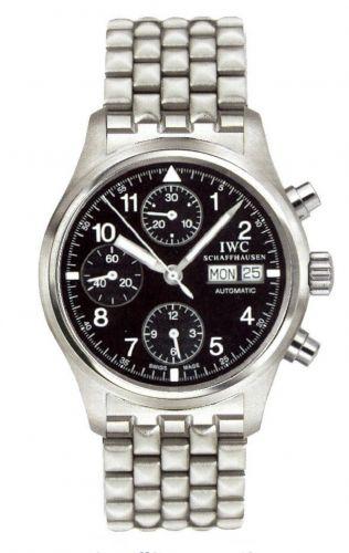 IWC IW3706-10 : Pilot's Watch Chronograph Stainless Steel / Black / Spanish / Bracelet