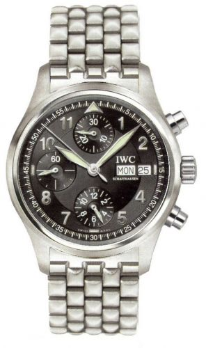 IWC IW3706-18 : Pilot's Watch Spitfire Chronograph Stainless Steel / Black / English / Bracelet