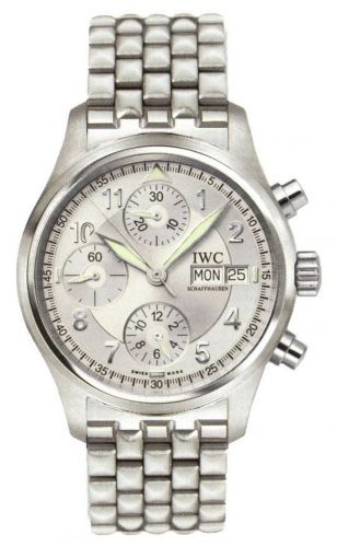 IWC IW3706-30 : Pilot's Watch Spitfire Chronograph Stainless Steel / Silver / Spanish / Bracelet