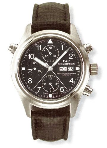IWC IW3711-04 : Pilot's Watch Doppelchronograph Stainless Steel / Black / French / Strap