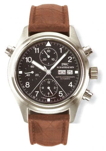 IWC IW3711-08 : Pilot's Watch Doppelchronograph Stainless Steel / Black / French / Strap