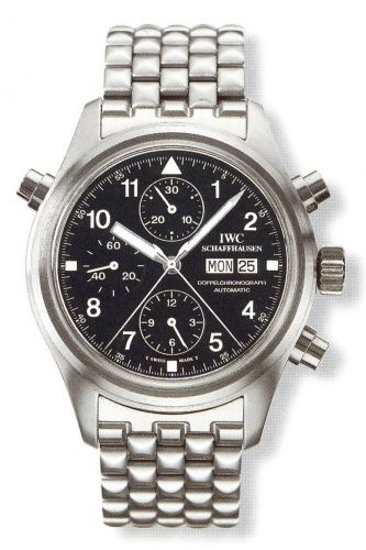 IWC IW3711-20 : Pilot's Watch Doppelchronograph Stainless Steel / Black / French / Bracelet