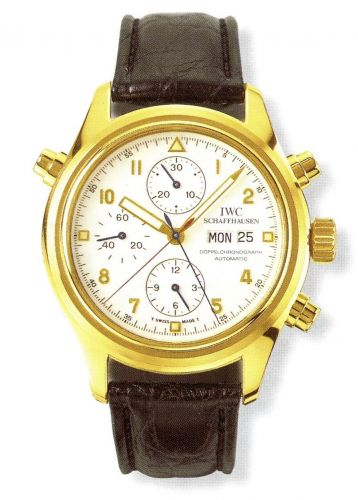 IWC IW3713-12 : Pilot's Watch Doppelchronograph Yellow Gold / White / French