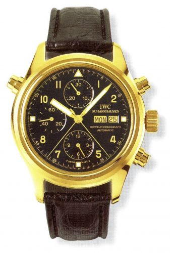 IWC IW3713-13 : Pilot's Watch Doppelchronograph Yellow Gold / Black / German