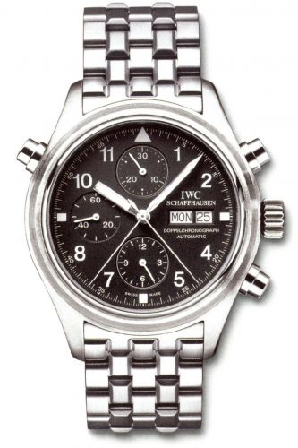IWC IW3713-17 : Pilot's Watch Doppelchronograph Stainless Steel / Black / German / Bracelet