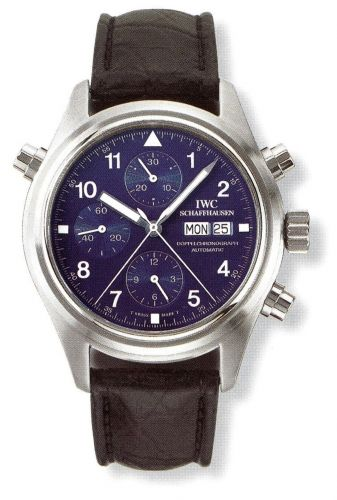 IWC IW3713-24 : Pilot's Watch Doppelchronograph Platinum / Blue / French