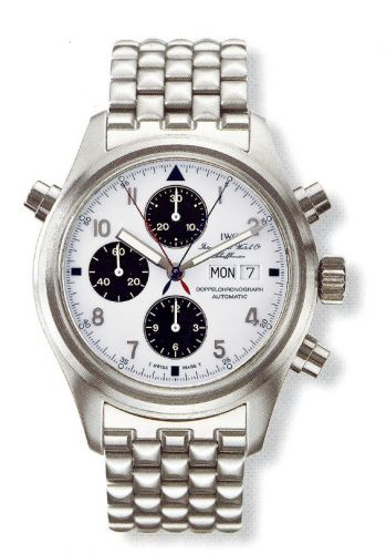 IWC IW3713-30 : Pilot's Watch Doppelchronograph Stainless Steel / White / Japan / Bracelet
