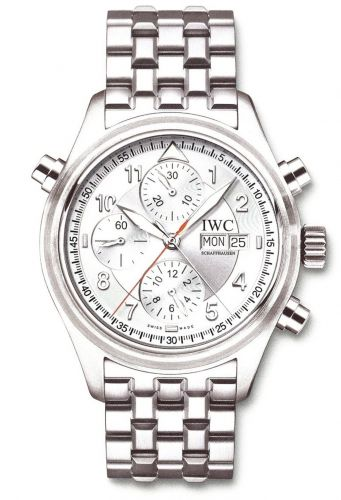 IWC IW3713-49 : Pilot's Watch Spitfire Double Chronograph Stainless Steel / Silver / French / Bracelet
