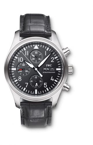 IWC IW3717-01 : Pilot's Watch Chronograph Stainless Steel / Black / Strap