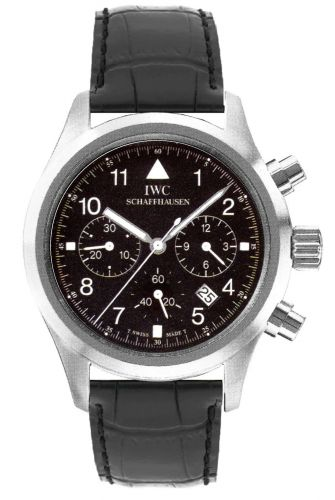 IW3741-01 : IWC Pilot's Watch Chronograph Mecaquartz Stainless Steel / Black / Strap
