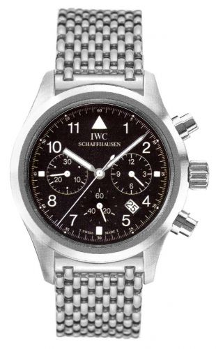 IWC IW3741-02 : Pilot's Watch Chronograph Mecaquartz Stainless Steel / Black / Bracelet