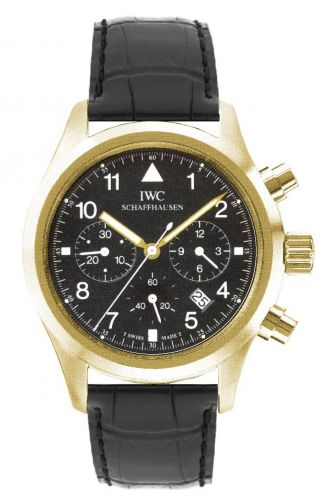 IWC IW3741-04 : Pilot's Watch Chronograph Mecaquartz Yellow Gold / Black / Strap