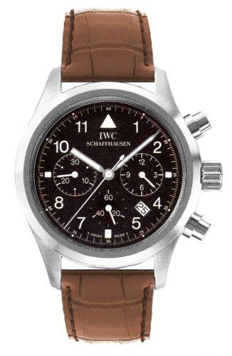 IWC IW3741-05 : Pilot's Watch Chronograph Mecaquartz Stainless Steel / Black / Strap