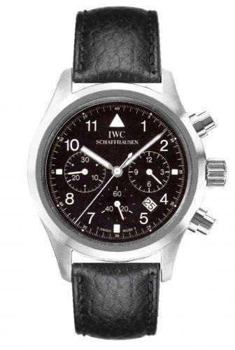 IWC IW3741-06 : Pilot's Watch Chronograph Mecaquartz Stainless Steel / Black / Strap