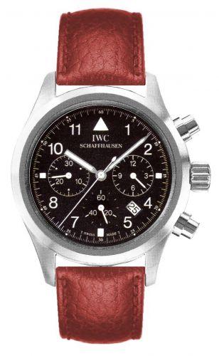 IWC IW3741-07 : Pilot's Watch Chronograph Mecaquartz Stainless Steel / Black / Strap