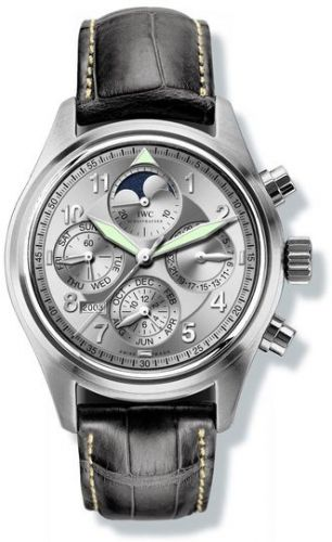 IWC IW3757-05 : Pilot's Watch Spitfire Chronograph Perpetual Calendar Stainless Steel / Silver / Sincere
