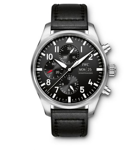 IW3777-09 : IWC Pilot's Watch Chronograph Stainless Steel / Black / Strap