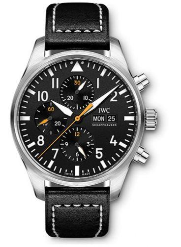 IWC IW3777-27 : Pilot's Watch Chronograph Stainless Steel / Black / Staffel 11